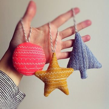 ornament making free holiday workshop - Christmas Decorations To Make With Sewing Machine